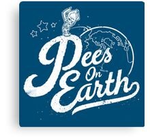Pees (Peace) On Earth Canvas Print