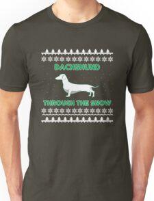 Dachshund through the Snow - Christmas Tee Unisex T-Shirt