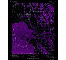 USGS TOPO Map Arkansas AR Holly Grove 258742 1971 24000 Inverted Photographic Print