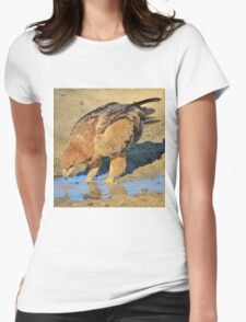 Tawny Eagle - Curious Life and Funny Nature Womens Fitted T-Shirt