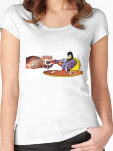 The Real Space Ghost Women's Fitted Scoop T-Shirt