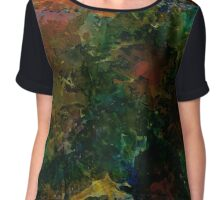 Verdant | Alcohol Ink Abstract Chiffon Top