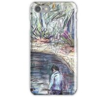 Young Boy at the Duck Pond iPhone Case/Skin