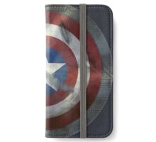 Worn Steve & Bucky Unshielded Half Shield  iPhone Wallet/Case/Skin