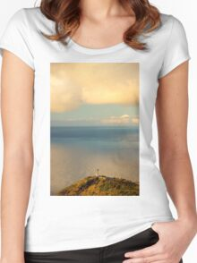 Clouds Viewing in the Ocean - Travel Photography Women's Fitted Scoop T-Shirt