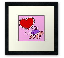 Heart Balloon Turtle Framed Print