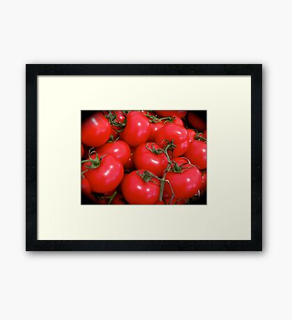 JUICY RED TOMATOES Framed Print