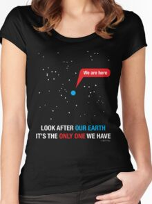 Look After Our Earth Women's Fitted Scoop T-Shirt