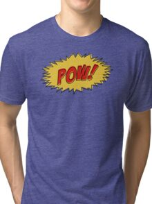 Pow - Comic Book Sound Tri-blend T-Shirt
