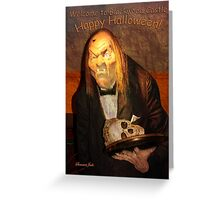 Welcome to Blackwood Castle Halloween Greeting Card