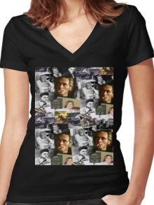 BILLY FURY through the ages Women's Fitted V-Neck T-Shirt