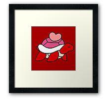 Pink Heart Turtle Framed Print