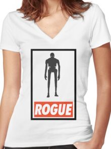Star wars ROGUE ONE Women's Fitted V-Neck T-Shirt