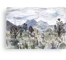 Mt Warning in Cloud Canvas Print