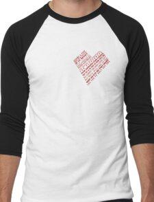 One Heart Shape Poem Men's Baseball ¾ T-Shirt