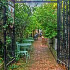 Cobblestone Alley in the Summer, Upper Montclair NJ by Jane Neill-Hancock