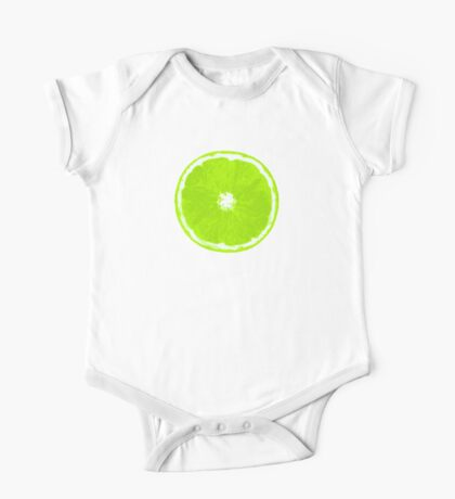 Lime Slice Digital Painting One Piece - Short Sleeve