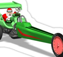 Santa Claus In Dragster Sticker