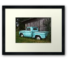 To Be Country - Vintage Truck Art Framed Print