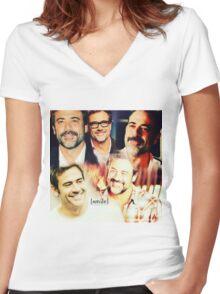 Smile Women's Fitted V-Neck T-Shirt