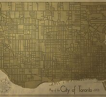 Toronto, Vintage City Map c. 1908 by FinlayMcNevin