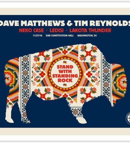 Dave Matthews Band & TIM Reynolds, Neko Case Ledisi Lakota Thunder DAR Constitution Hall Washington DC Sticker