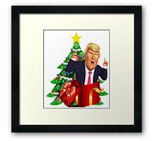 Funny Donald Trump Christmas Present Tree Holiday Nasty Women Deplorables Gag Gift Republican Democrat 2016 Election President  Framed Print