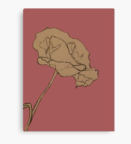 Poppy Lineart 2  Canvas Print