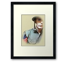 To Serve God and Country Framed Print