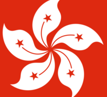 Democracy Hong Kong Flag Sticker