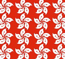 Hong Kong Flag Pattern by piedaydesigns