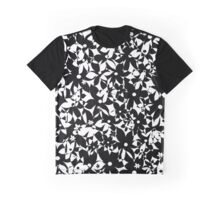 Crowded Flowers - Black and White Graphic T-Shirt