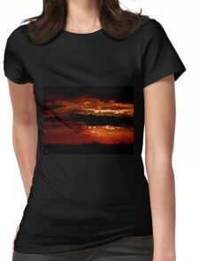 Red clouds Womens Fitted T-Shirt