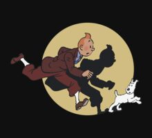 Tin tin & Snowy by Falcata
