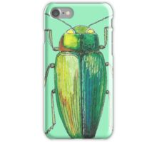 Green insect drawing iPhone Case/Skin