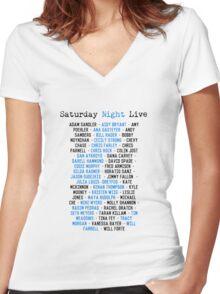 SNL Cast Members Women's Fitted V-Neck T-Shirt