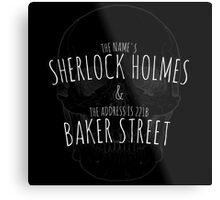 Sherlock Holmes 221B  Metal Print