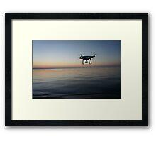Drone sunset Framed Print