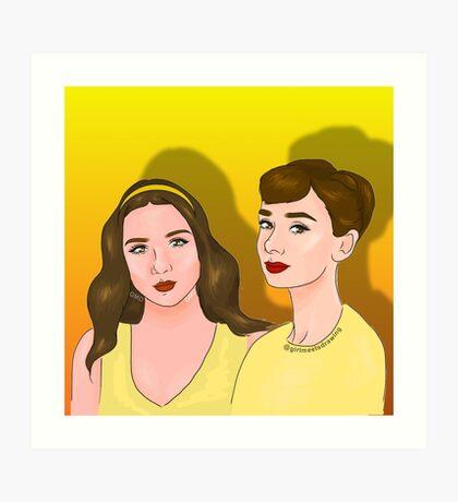Audrey Hepburn and Rowan Blanchard Art Print