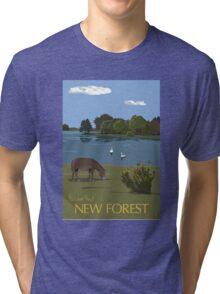 Hatchet Pond, New Forest Tri-blend T-Shirt
