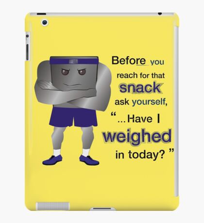Weight Scale Fitness Trainer (M) iPad Case/Skin