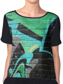 Graffiti Wall Chiffon Top