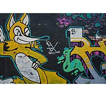 Fox street art Photographic Print