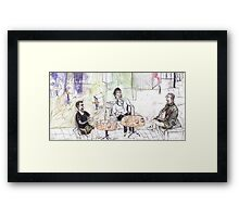Loui, Donna and Phil at the Qld Library Café Framed Print