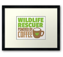 Wildlife rescuer powered by coffee Framed Print