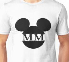 Mouse Initials Silhouette Design Unisex T-Shirt