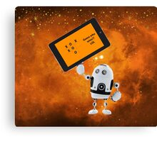 Robot Game Canvas Print