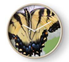 Beautiful Yellow Butterfly Clock