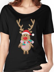 Christmas reindeer Women's Relaxed Fit T-Shirt