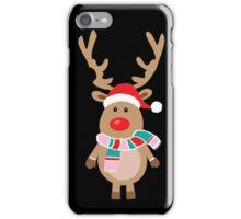 Christmas reindeer iPhone Case/Skin
